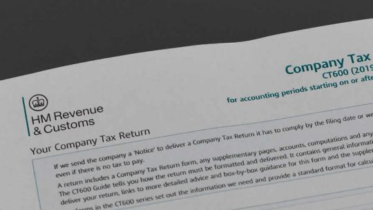 Company tax returns form