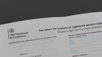 tax return pension schemes form