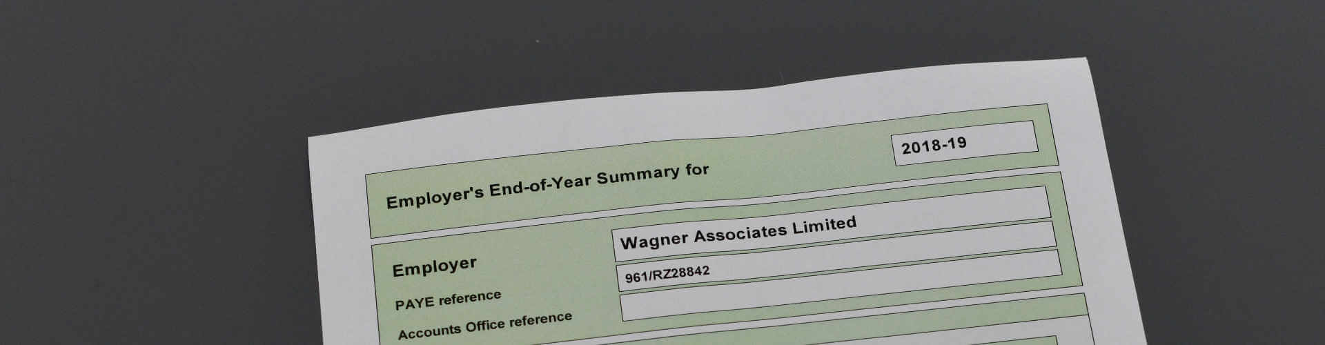 employers end year form