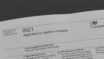 register company IN01 form